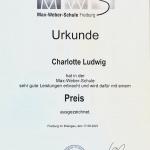 Urkunde Charlotte Ludwig